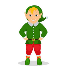 cartoon cute christmas elf vector image