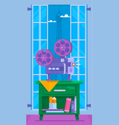 cinema movie posterhome movie watching vector image