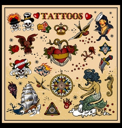 Classic tattoos vector