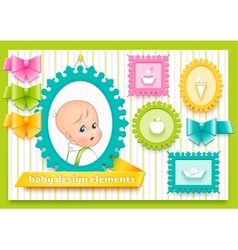 Collection for decoration child theme vector