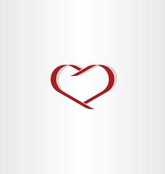 dark red heart symbol love icon element vector image vector image