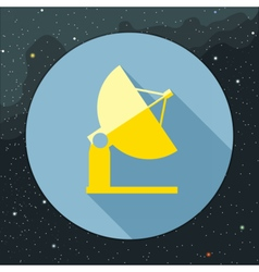 Digital with yellow space antenna icon vector image vector image