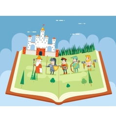 Fairy Tales History Books Reading Concept Symbol vector image