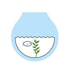 Fishs in aquarium icon vector