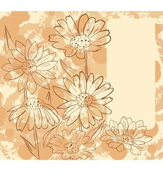 FrameWithDaisies vector image