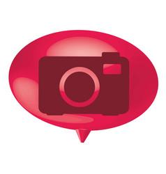 fuchsia bubble camera icon vector image vector image