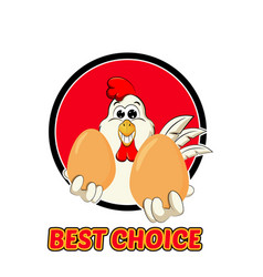 funny rooster logo vector image