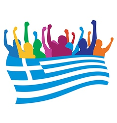 Greece fans vector image