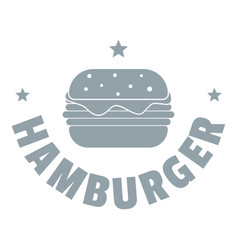 hamburger logo simple gray style vector image