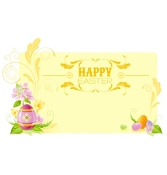 Happy Easter horizontal banner border Spring vector image vector image