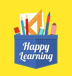 Happy Learning vector image