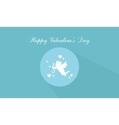Happy Valentine Day with cupid vector image vector image