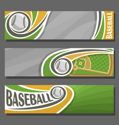 Horizontal banners for baseball vector