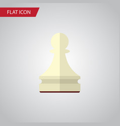 Isolated chess flat icon pawn element can vector