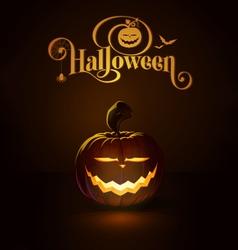 Jack o Lantern Dark Saber Smile vector image vector image