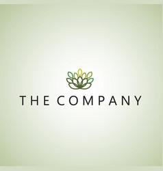 leaf logo ideas design vector image