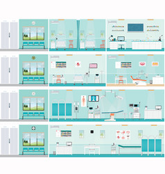 medical hospital surgery operation room vector image vector image