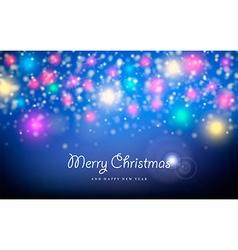 Merry christmas new year spark star greeting card vector