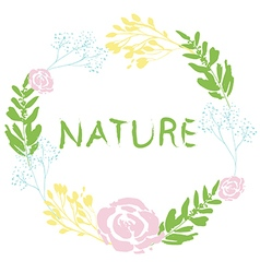 Nature flowaer wreath vector