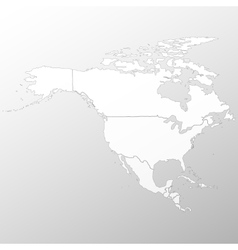 North america map background vector image