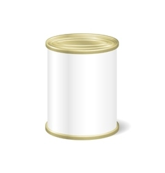 Realistic Blank Tin For Canned Food Preserve vector image vector image