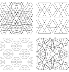 Seamless black and white ornament modern stylish vector