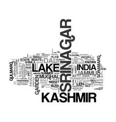 Srinagar word cloud concept vector