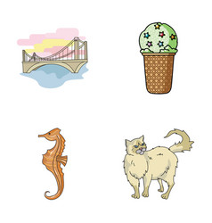 Travel animals and other web icon in cartoon vector