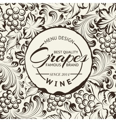 Wine list design layout on chalkboard vector image vector image