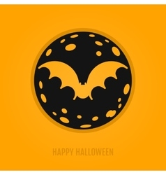 Happy halloween concept with bat and moon vector