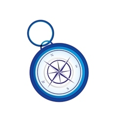 Retro compass icon image vector