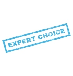 Expert choice rubber stamp vector