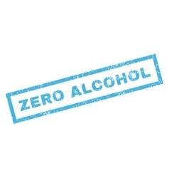 Zero alcohol rubber stamp vector