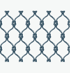 Rope seamless tied fishnet pattern vector