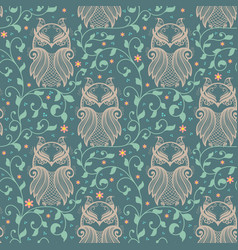 Abstract pattern element with floral vector