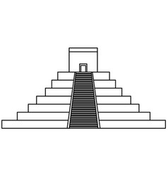 Mayan pyramid isolated icon vector