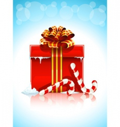 Red box with christmas gift vector