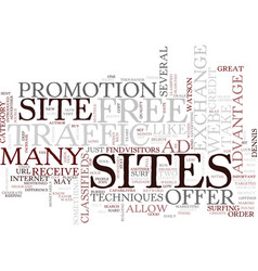 Great ways to increase web site traffic text vector