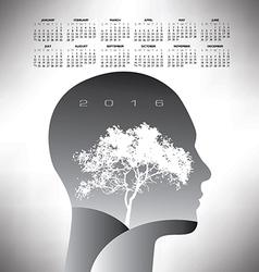 2016 ethereal calendar vector