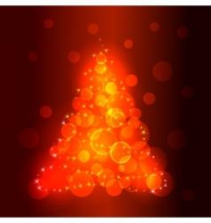 vector Christmas tree vector image