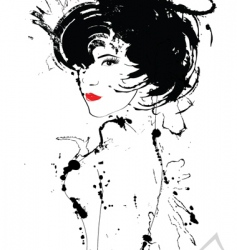 abstract woman vector image