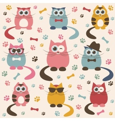 Background with cute cats vector