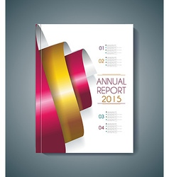 Brochure cover design spiral elements vector
