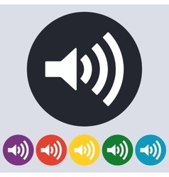 Stock linear icon sound vector