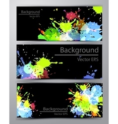 Abstract inkblot colorful banners vector