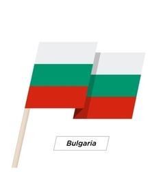 Bulgaria ribbon waving flag isolated on white vector