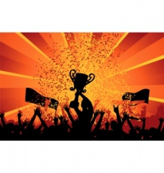 cheering crowd vector image