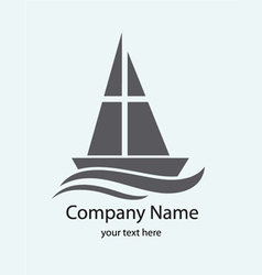 Christian ship logo vector