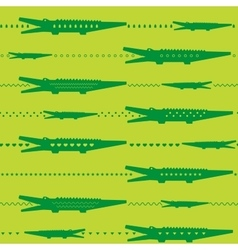 Crocodile seamless pattern vector