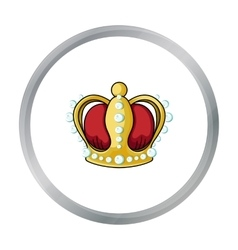 Crown icon in cartoon style isolated on white vector